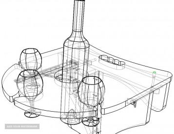 Столик для бокалов и вина